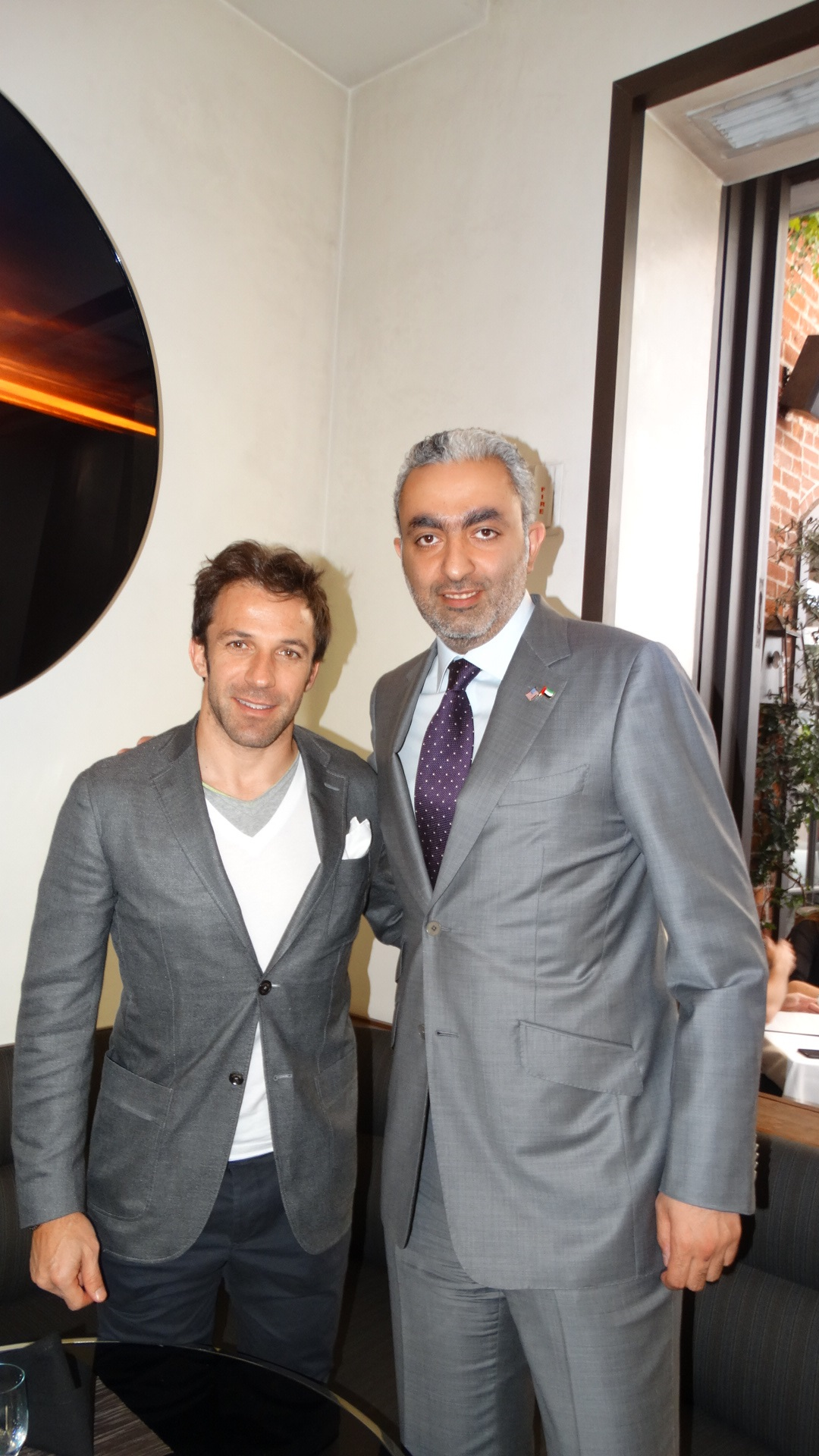 imgRAK FTZ Chairman meets with Alessandro Del Piero, Italian football player