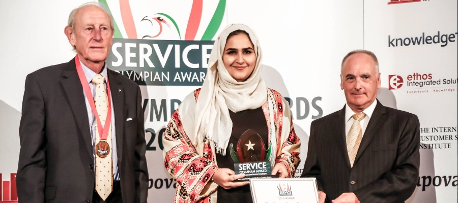 The Service Olympian Awards 2015 commends RAK FTZ employee for customer service excellence